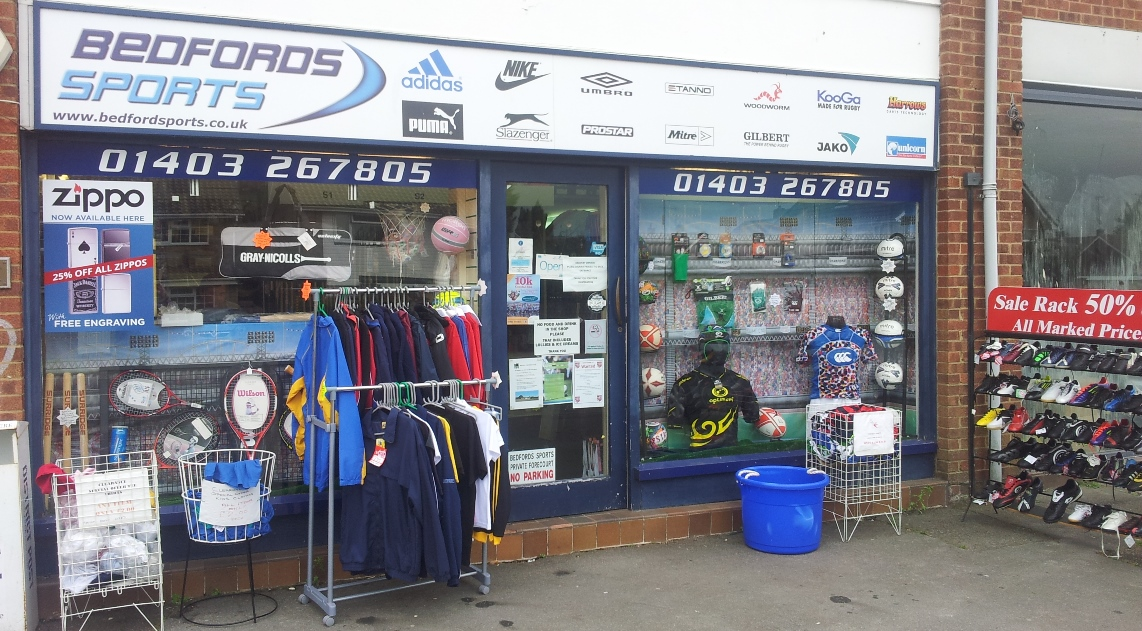 Bedford Sports Shop front